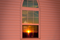 Church Window Sun Set